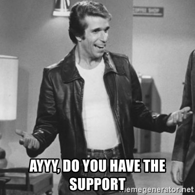 The Fonz - AYYY, Do you have the support