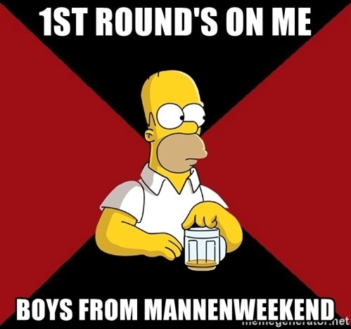 Homer Jay Simpson - 1st round's on me boys from mannenweekend