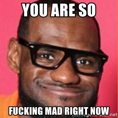 LelBron James - You are so  fucking mad right now