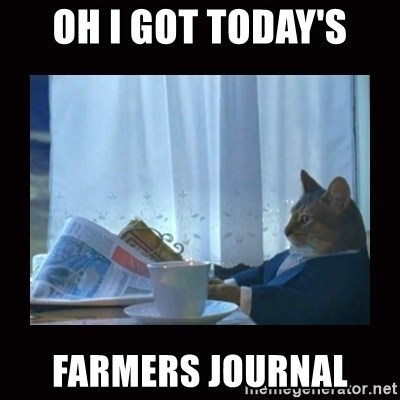 i should buy a boat cat - OH I GOT TODAY'S FARMERS JOURNAL