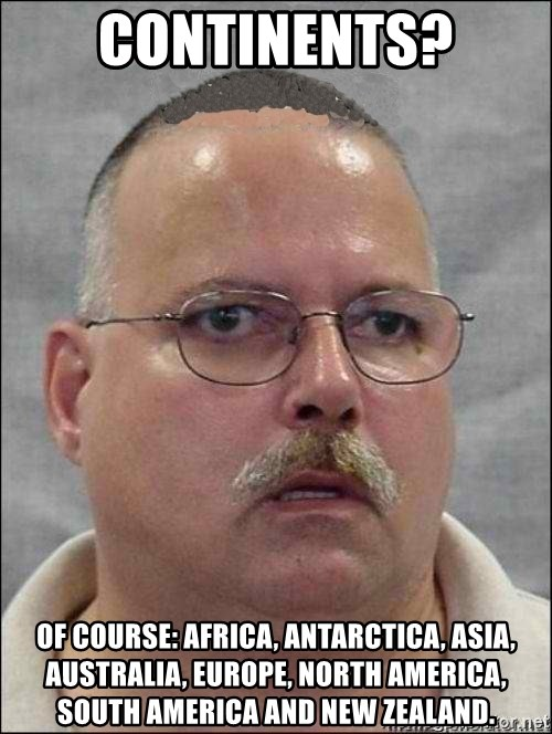 Continents of course africa antarctica asia australia europe continents of course africa antarctica asia australia europe north america south america and new zealand are you a wizard sciox Choice Image