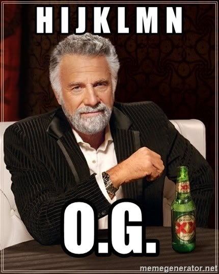 The Most Interesting Man In The World - h i j k l m n o.g.