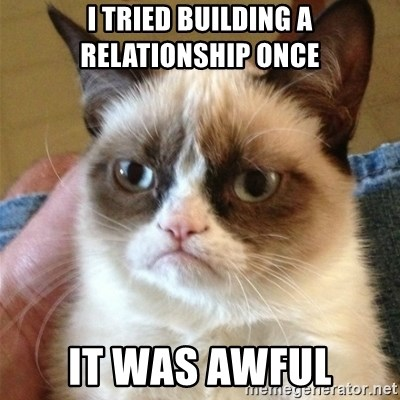 Grumpy Cat  - I tried building a relationship once It was awful