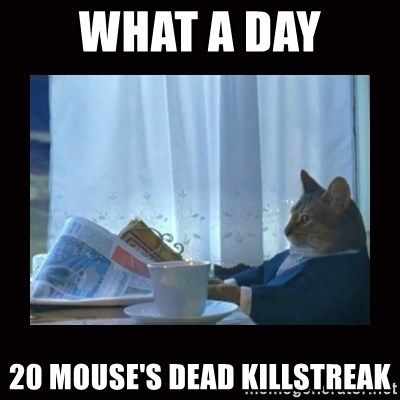 i should buy a boat cat - what a day 20 mouse's dead killstreak