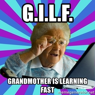 old lady - G.I.L.F. Grandmother is learning Fast