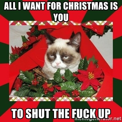 all i want for christmas is you to shut the fuck up - GRUMPY CAT ...