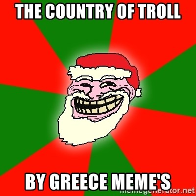 Santa Claus Troll Face - the country of troll by greece meme's