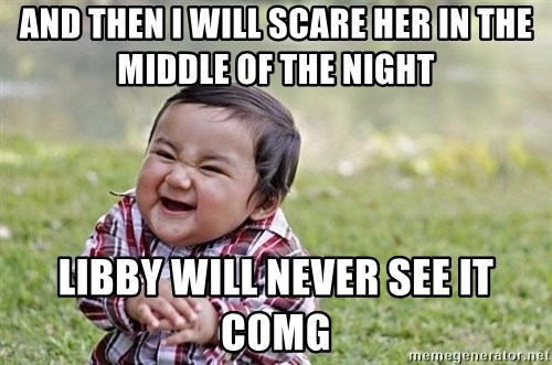 evil asian plotting baby - And then i will scare her in the middle of the night libby will never see it comg
