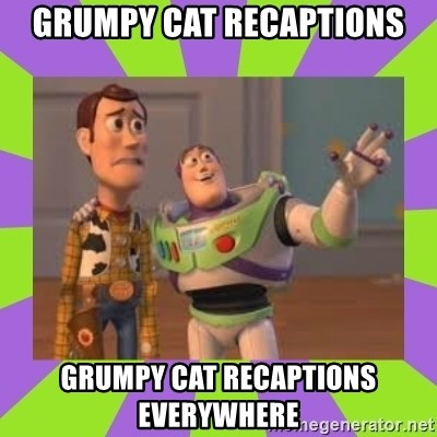 X, X Everywhere  - Grumpy Cat recaptions Grumpy Cat recaptions everywhere