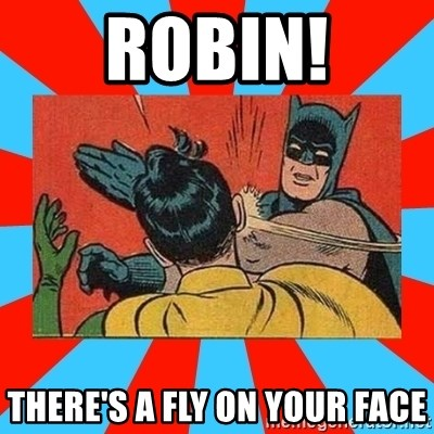 Batman Bitchslap - ROBIN! THERE'S A FLY ON YOUR FACE