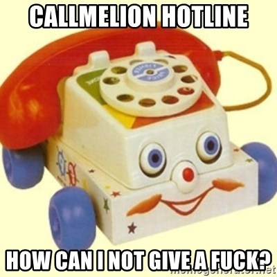 Sinister Phone - callmelion Hotline How can i not give a fuck?