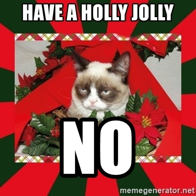 GRUMPY CAT ON CHRISTMAS - Have a holly jolly no