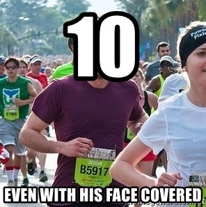 Ridiculously photogenic guy (Zeddie) - 10 even with his face covered