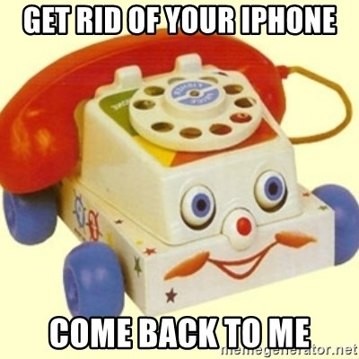 Sinister Phone - get rid of your iphone come back to me