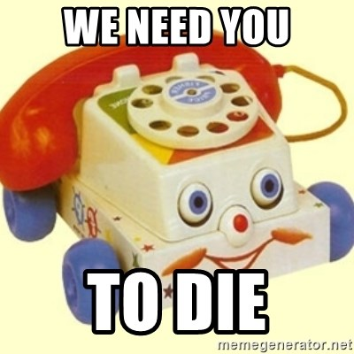 Sinister Phone - we need you to die