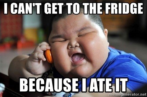 Fat Asian Kid - i can't get to the fridge BECAUSE I ATE IT