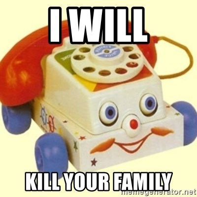 Sinister Phone - I WILL KILL YOUR FAMILY