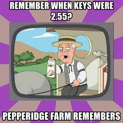 Pepperidge Farm Remembers FG - remember when keys were 2.55? pepperidge farm remembers