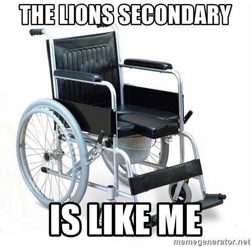 wheelchair watchout - the lions secondary  is like me