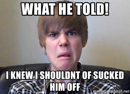 Justin Bieber 213 - what he told! i knew i shouldnt of sucked him off
