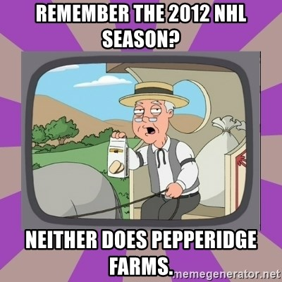 Pepperidge Farm Remembers FG - Remember the 2012 nhl season? neither does pepperidge farms.