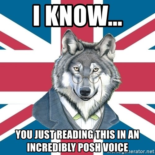 Sir Courage Wolf Esquire - I know... you just reading this in an incredibly posh voice