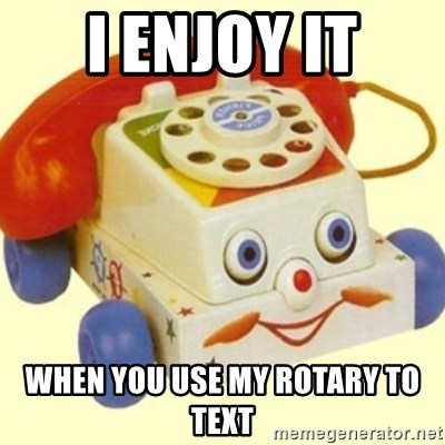 Sinister Phone - i enjoy it when you use my rotary to text