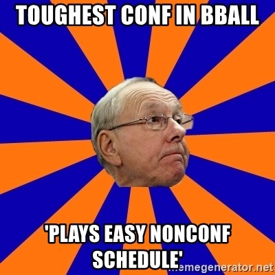 Jim Boeheim - toughest conf in BBall 'plays easy nonconf schedule'