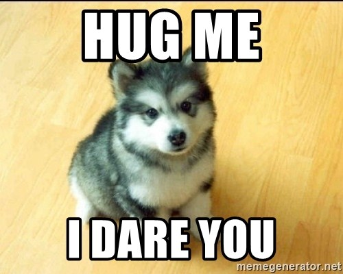 Baby Courage Wolf - HUG ME I DARE YOU