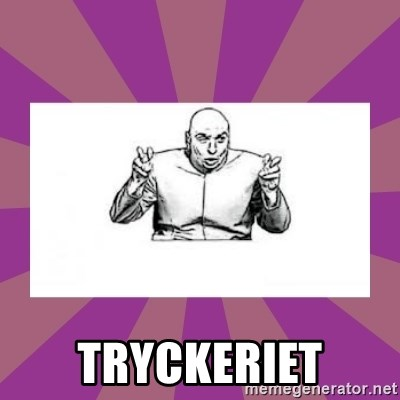 'dr. evil' air quote - tryckeriet