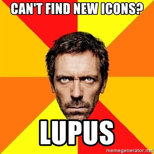 Diagnostic House - can't find new icons? lupus