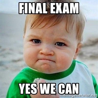 Final exam Yes we can - Victory Baby | Meme Generator