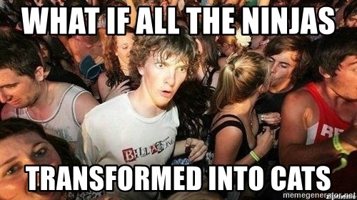 -Sudden Clarity Clarence - What if all the ninjas Transformed into cats