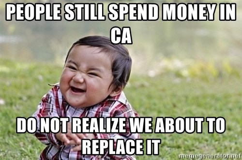 evil asian plotting baby - People still spend money in CA Do not realize we about to replace it