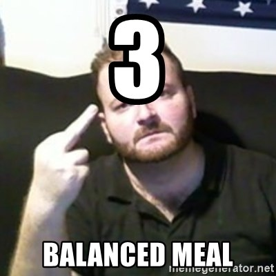 Angry Drunken Comedian - 3 balanced meal
