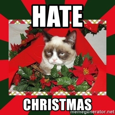 GRUMPY CAT ON CHRISTMAS - HATE CHRISTMAS
