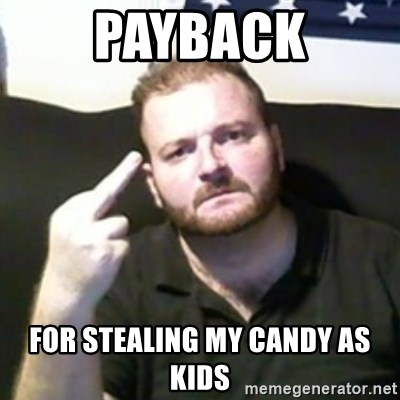 Angry Drunken Comedian - payback for stealing my candy as kids