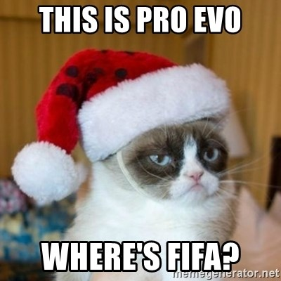 Grumpy Cat Santa Hat - THIS IS PRO EVO WHERE'S FIFA?