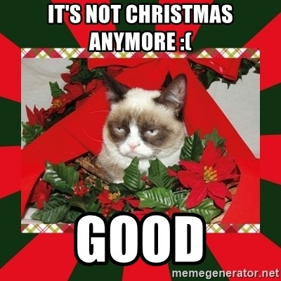 GRUMPY CAT ON CHRISTMAS - It's not Christmas anymore :( Good