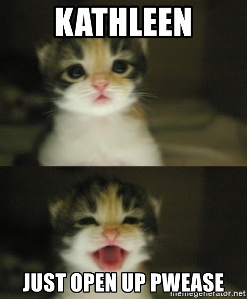 Adorable Kitten - Kathleen just open up pwease