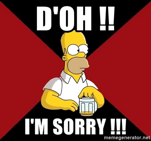 Homer Jay Simpson - D'OH !! I'M SORRY !!!