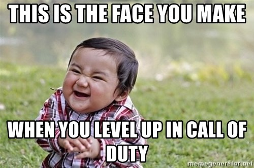 evil asian plotting baby - This is the face you make when you level up in call of duty
