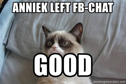 Grumpy cat good - Anniek left fb-chat Good