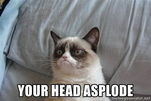 Grumpy cat good - Your head asplode