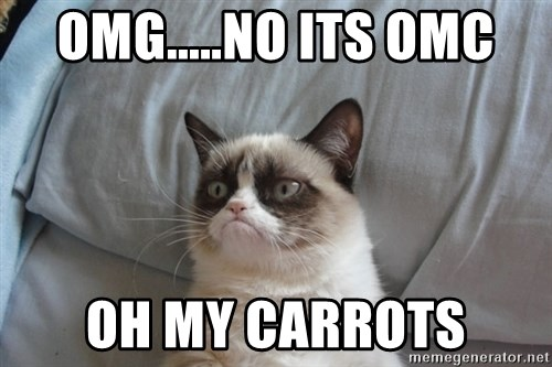 Grumpy cat good - OMG.....NO ITS OMC OH MY CARROTS
