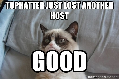 Grumpy cat good - Tophatter just lost another host good