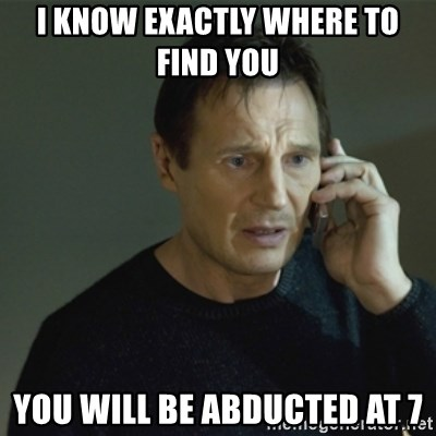 I don't know who you are... - I KNOW EXACTLY WHERE TO FIND YOU  YOU WILL BE ABDUCTED AT 7