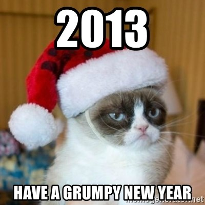 Grumpy Cat Santa Hat - 2013 Have a grumpy new year