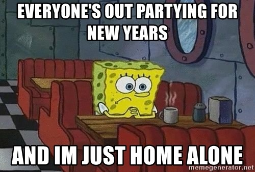 Coffee shop spongebob - Everyone's out partying for new years And im just home alone