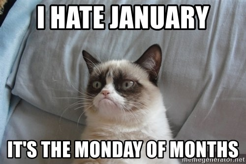Grumpy cat good - I Hate january it's the monday of months